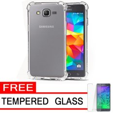 Soft Back Case Anti Crack / Shockproof / Benturan Elegant Aircase Strong Softcase Ultrathin for Grand Prime / Duos / Plus / G350 / G350H + Gratis Free Tempered Glass - Clear