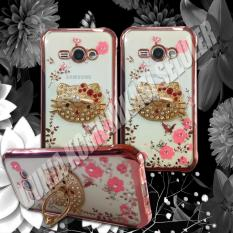 Xiaomi Redmi Source Softcase Casing Shining Chrome Flower With RingStand Samsung Galaxy J1 .
