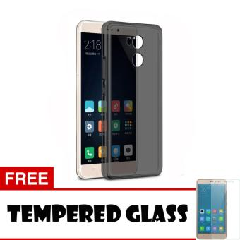 Softcase Jelly Ultrathin For Xiaomi Redmi 4 Prime Aircase Hitam +Free Tempered Glass