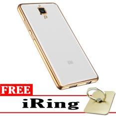 Softcase Silicon Jelly Case List Shining Chrome for Xiaomi Mi 4 Gold Free .