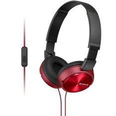Sony Headphone MDR-ZX310AP Stereo Headphone - Red