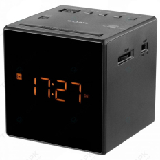Sony ICF - C1 Alarm Clock AM / FM Radio - Hitam