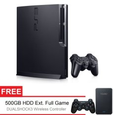 Sony Playstation 3 Slim 160GB ODE 2 Controller + Gratis HDD 500GB Full Game