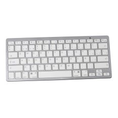Spanish Bluetooth Wireless White Keyboard Spanish Letter Gaming Keyboard Portable For Apple Mac And Windows Laptops & Desktops- Intl