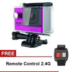 Sport Cam TiFo W9 1080P Full HD Sports DV Waterproof Wifi 2 Inch Screen + Remote - Pink
