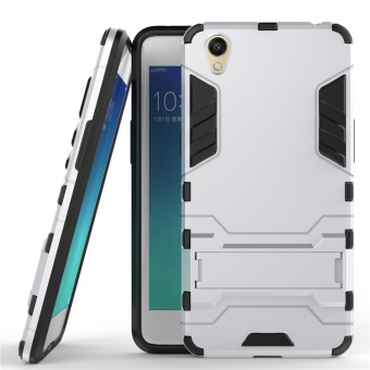 Stand Holder Robot Case Dual Layer Hybrid Slim Armor Back Cover TPU+PC Shell for OPPO A37 - intl