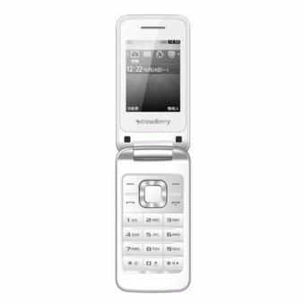 48% Strawberry ST3520 Flip Dual Sim - [ White ]