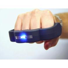 Stun Gun Alat kejut Setrum Listrik Desain Knuckle Untuk Membela Diri Mencegah Kejahatan - Hitam