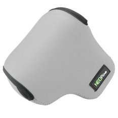 SUNSKY NEOpine Neoprene Shockproof Soft Case Bag with Hook For Canon PowerShot G3X Camera (Grey)