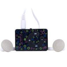 SuperCart Plastic Mini Clip USB MP3 Music Media Player Micro TF / SD Card (Black) (Intl)