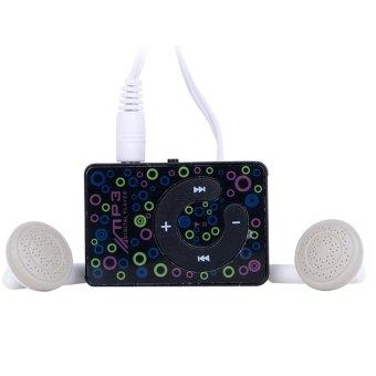 SuperCart Plastic Mini Clip USB MP3 Music Media Player Micro TF / SD Card (Black)