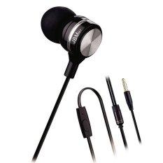 Tangle-Free Cable HiFi Earphone Bass Headphone High Sensitivity Microphone Headset For IPhone Samsung SONY Phones (Black)