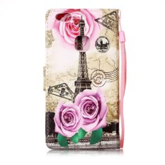 Taoyi High Quality Printed lanyard Flip Leather Case For S amsung Galaxy J1 Mini(Flower tower) - intl
