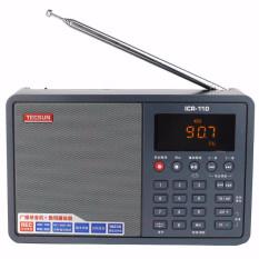 TECSUN ICR-110 Radio FM / AM TF Card MP3 Player Recorder LCD Radio Digital Receiver (Black)