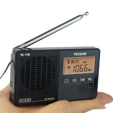 Tecsun PL-118 DSP FM Stereo Radio ETM Clock Alarm Professional Receiver Black Radio FM Y4142 - Intl