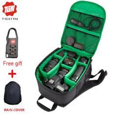 Tigernu waterproof Digital DSLR kamera viedo tas ransel kamera fotografi desain kompak kecil (hijau)