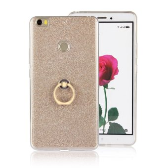 TPU soft shell Case for Xiaomi Mi Max with kickstand holder stand 2 in 1 Transparent & flash shimmering powder for women - intl