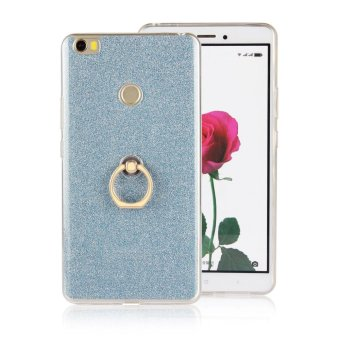 TPU soft shell Case for Xiaomi Mi Max with kickstand holder stand 2in 1 Transparent & flash shimmering powder for women - intl