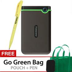 Transcend Storejet USB 3.0 1TB - Hijau Gratis Go Green Bag + Pouch + Pen