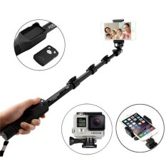 Tripod 4 In 1 Yunteng 1288 Bluetooth Extendable Selfie Stick Handheld Yt-1288 Monopod For Xiaomi Yi Gopro Sj4000 IPhone Camera - (Black) - Intl