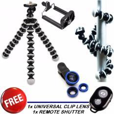 Tripod Mini GORILA FREE Universal clip lens + remote shutter bluetooth