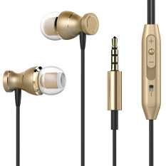 TTLIFE The High Quality Magnetic Earphones Headphone Metal Headsets Hot Sale 3.5mm Super Bass Stereo Earbuds With Mic For Mobile Phone MP3 MP4 (Gold)