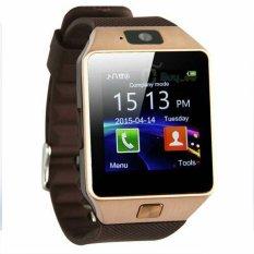 U Watch Smartwatch U9 DZ09 - Coklat Emas - Strap Karet