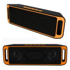 Ubit Portable Wireless Speaker Bluetooth 4.0 Stereo Subwoofer Dual Speaker SC208 Yellow - Intl