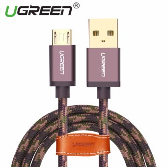UGREEN Micro USB 2.0 Cable Nylon Braided Sync and Fast Charging Data Cable for Android Mobile Phone - 2M,Arm Green - intl