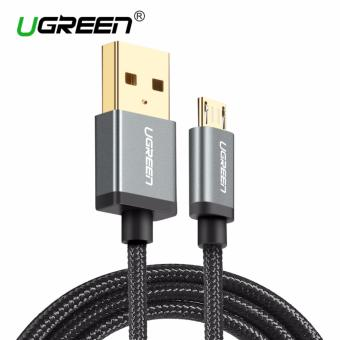 UGREEN Nylon Braided Micro USB Cable Sync Data Charging Cable for Android Phone - 1.5m,Black - intl