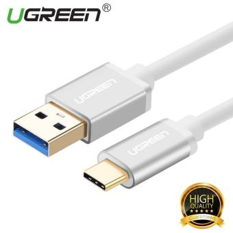 UGREEN USB 3.0 to Type C Data Sync Charging Cable with Aluminum Connector - White,0.25m - intl
