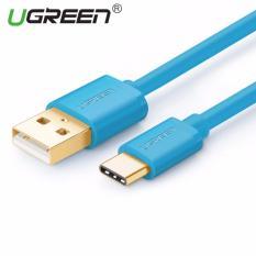 UGREEN USB untuk Type C sinkronisasi Data kabel Charger (1,5 m) Biru