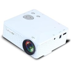 UHAPPY U18 Mini Projector Remote Control Support HDMI USB SD VGA AV for Android and iOS - White - intl