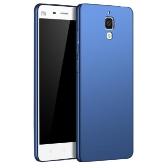 Ultra Slim Fit Shell Hard Plastic Full Protective Anti-Scratch Resistant Cover Case for Xiaomi Mi 4 (Silky Blue) - intl