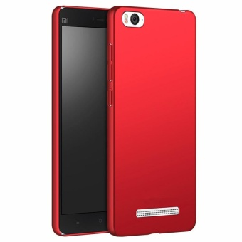 Ultra Slim Fit Shell Hard Plastic Full Protective Anti-Scratch Resistant Cover Case for Xiaomi Mi 4C (Silky Red) - intl