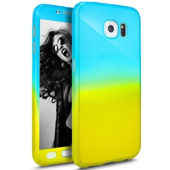 Ultra Thin 360 Degree Full Body Coverage Protection Gradient Ramp Vibrant Colorful PC Hard Slim Case