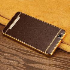 Ultra Thin Slim Litchi Grain Plating Leather Case Soft TPU Back Cover For Xiaomi Redmi 4A