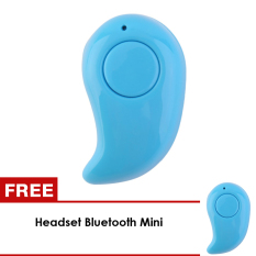 UNiQue Headset Bluetooth In Ear Mini Wireless Headset For Smart Phone Android & IOS - Biru - BUY 1 GET 1