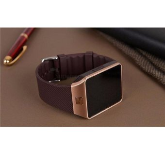 UNiQue Smart Watch DZ09 U9 For IOS And Android - Strap Rubber - Cokelat. Rp