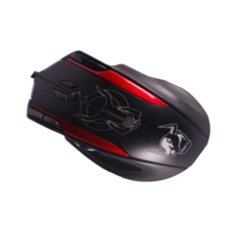 Universal AUW Left Roller Top Wired Gaming Optical Mouse with Custom Button and The Function Of Setting Software - X9 - Red