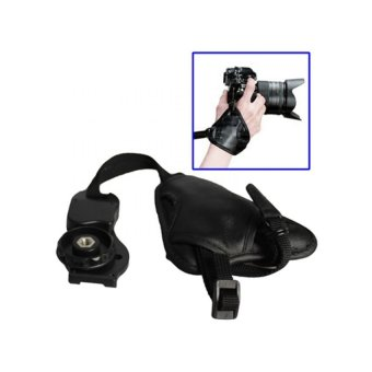 Universal Leather Camera Grip CB-0138 - Hitam