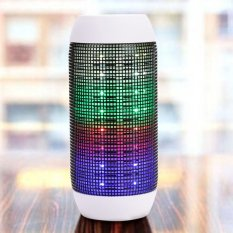 Universal Portable LED Light Stereo Bluetooth Music Speaker (White) - Intl