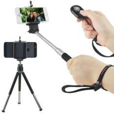 Universal Wireless Selfie Kit Including Selfie Stick, Tripod And Bluetooth Remote Control. Handsfree Control Of Camera Shutter From A Distance Of Up To 30 Feet. For IOS & Android Smartphones