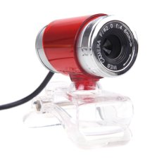 USB 2.0 12 Megapixel HD Camera Web Cam with MIC Clip-on 360 Degree For Desktop Skype Computer PC Laptop Red