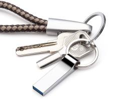 USB 2.0 1TB Metal Flash Drive Media Storage Disk Waterproof Key Ring