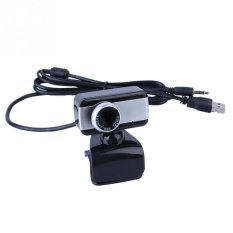 USB 2.0 HD Clip Webcam For Computer Black With Silver - Intl