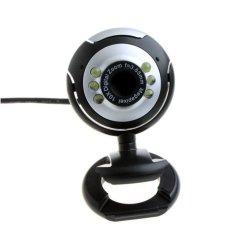 USB 6 LED Web Video Camera With Mic (Black)