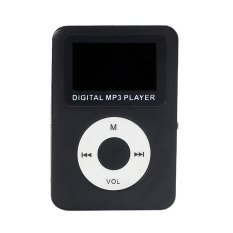 USB Digital MP3 Player LCD Screen Support 32GB Micro SD TF Card (Black)