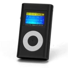 USB Mini MP3 Player LCD Screen Support 32GB Micro SD TF Card Black - Intl