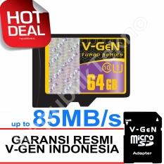 V-Gen MicroSDHC 64GB Turbo - 85MB/s Class10 USH-1 Micro + Gratis SD Adapter Memory Card